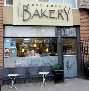 Bond Bonds Bakery store front
